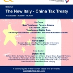 Webinar - The New Italy - China Tax Treaty - 16 luglio